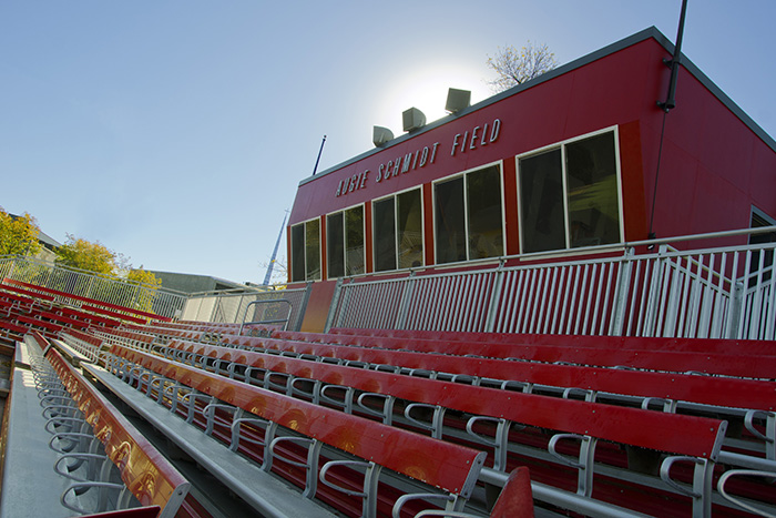 bleacher seating outside at the field